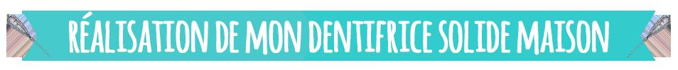 Réalisez votre dentifrice solide maison