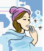 Lèvres gercées en hiver