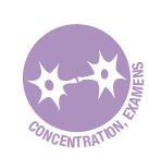 Concentration (aide à la) et periode d'examens