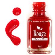vernis à ongles naturel rouge passion