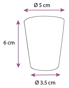 lot de 4 verres bougie chupito petit mod le aroma zone aroma zone. Black Bedroom Furniture Sets. Home Design Ideas