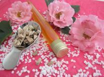 Huile de bain pour peaux délicates Bois de Rose & Géranium Rosat