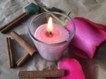 Bougie de massage au Féminin Rose & Cannelle