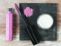 Mascara gel rose pailleté pour cheveux de fée