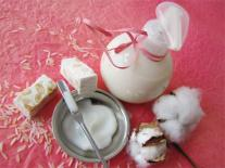 Crème laiteuse pour le corps au Riz adoucissant