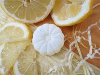 Galets de bain «Arc en ciel» Citron