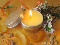 Bougie de massage à offrir Fleur d'Oranger