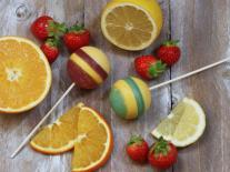 Sucettes de savon Pomme & Citron et Fraise & Orange
