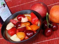 Fruits d'été rafraîchis au Cassis