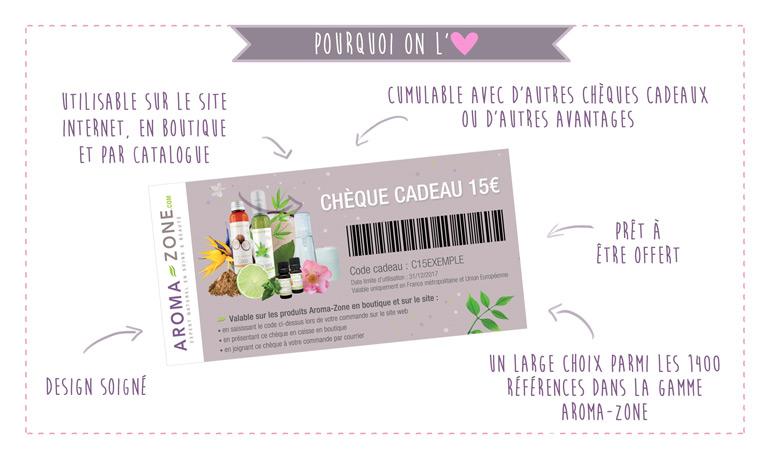 Super NOUVEAU - Chèque cadeau Aroma-Zone de 15 € - Aroma-Zone &ZR_07