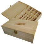 Coffret de rangement en bois FSC Aromathérapie Maxi pour 50 flacons - 0.01