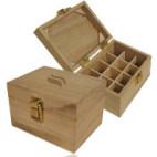 Coffret de rangement en bois FSC Aromathérapie Mini pour 12 flacons
