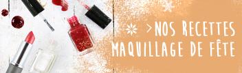 retrouvez une sélection de recettes cosmétique maison spécial maquillage naturel de fête